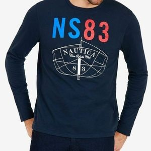 Nautica LS NS83 Cove Yacht Club Graphic T-Shirt L